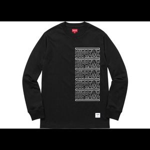 Supreme Stacked long sleeve in black